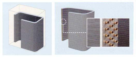 一体化四面热交换器和普通四面热交换器对比